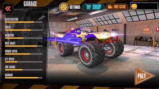 Offroad Flying Monster Truck Driving screenshots 15