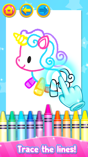 Rainbow Glitter Drawing Book - Coloring Classes  screenshots 2
