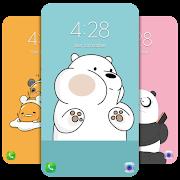 Cute Bear Cartoon Wallpaper HD 4K