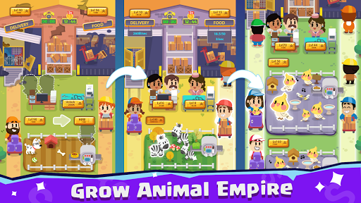 Pet Idle Miner: Farm Tycoon u2013 Take Care of Animals apkpoly screenshots 1