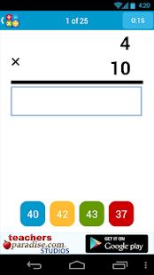 Math Practice Flash Cards