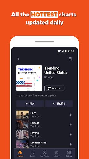Free Music Streaming: Trending for Tube Music Song  screenshots 4