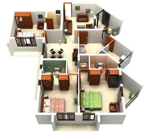 3D Home Plan Design For PC Windows (7, 8, 10, 10X) & Mac Computer Image Number- 12