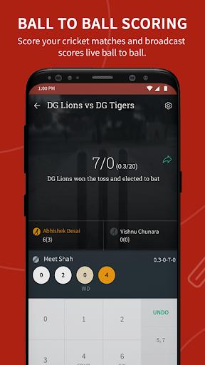 Cricket Scoring App - CricHeroes  screenshots 1