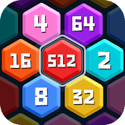 HexPuz - Free 2048 Merge Block Number Puzzle Game