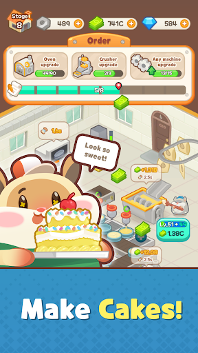 Hamster's Cake Factory - Idle Baking Manager apkmartins screenshots 1