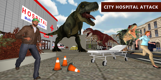 Dinosaur Simulator City Attack apkpoly screenshots 3
