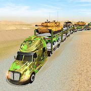 US Army Train Transporter Truck Driving Games