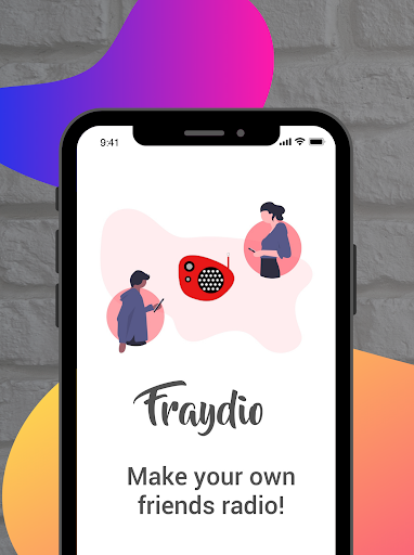 fraydio - group voice chat rooms, private radio screenshot 1