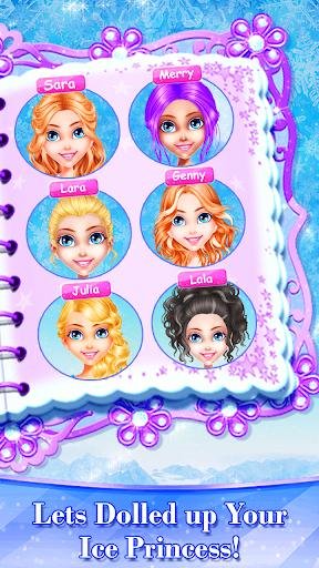 Little Ice Queen Princess Beauty Triplet Salon 1.9 screenshots 2