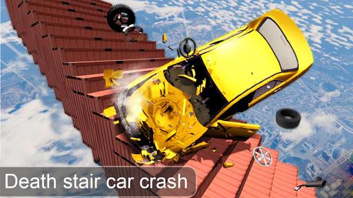 Beam Drive Crash Death Stair Car Crash Simulator 1.0 screenshots 1