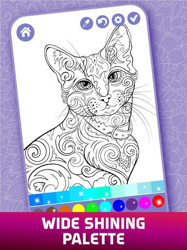 Relaxing Adult Coloring Book 2.9 screenshots 7