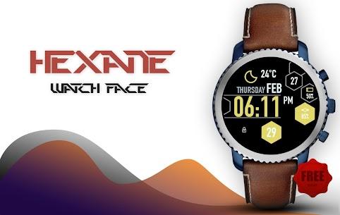 Hexane Watch Face and Clock Live Wallpaper 2