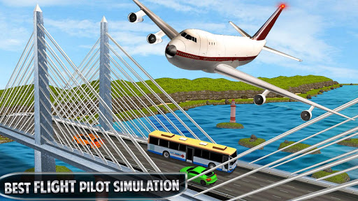 Flying Plane Flight Simulator 3D - Airplane Games modavailable screenshots 11