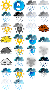 Weather M8. Icons. Cartoonz