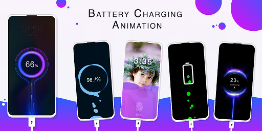 Battery Charging Animation - Photo Battery Charger  screenshots 1