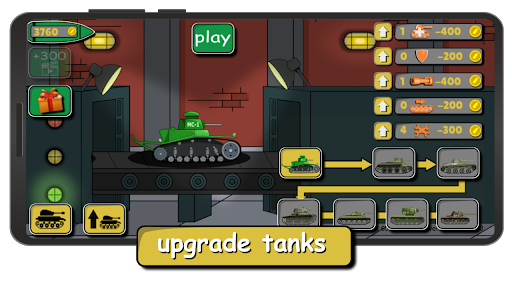Tank Battle War 2d: game free 1.0.4.3 screenshots 1