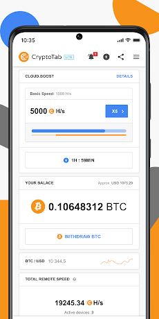 CryptoTab Lite — Get Bitcoin in your walletのおすすめ画像1