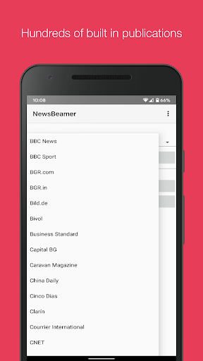 newsbeamer screenshot 3
