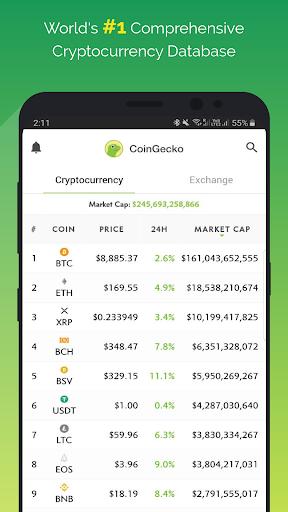 CoinGecko- Bitcoin & Cryptocurrency Price Tracker  screenshots 1