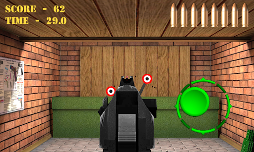 Pistol shooting at the target.  Weapon simulator 4.5 screenshots 4