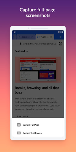 Vivaldi Browser with ad blocker: fast & private 3.5.2115.80 Screenshots 6