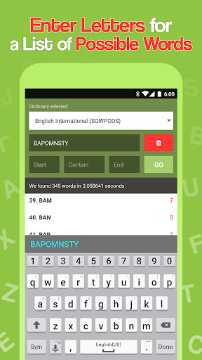 Word Checker - For Scrabble & Words with Friends android2mod screenshots 5