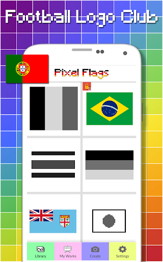Flags Color By Number - Pixel Art  screenshots 1
