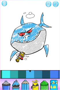 Baby Shark Coloring Book Glitter
