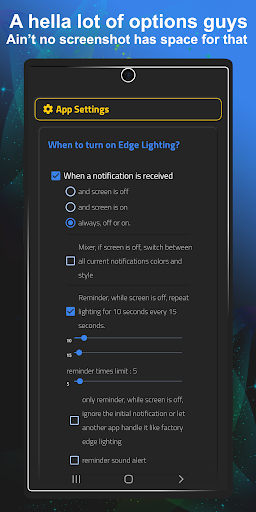 Always On Edge - LED light & AOD & Wallpapers modavailable screenshots 3