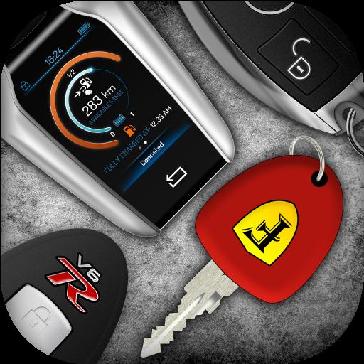 Auton avaimet ja moottorin äänet