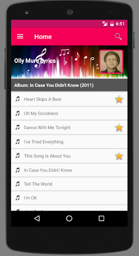 Olly Murs Lyrics screenshots 1