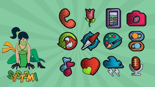 Download Comics Icon Pack 1.0.3 (Patched) 1