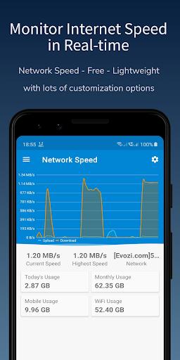 Network Speed - Internet Speed Meter - Indicator android2mod screenshots 1