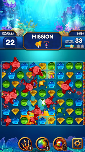Under the Deep Sea: Jewel Match3 Puzzle screenshots 3