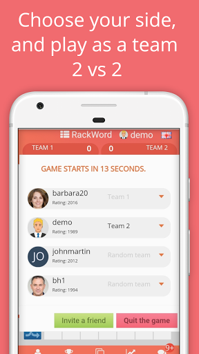 Rackword - Free real-time multiplayer word game screenshots 3