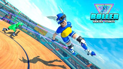 Sky Roller Skate Stunt Games 2021 - Roller Skating 2.1 screenshots 3