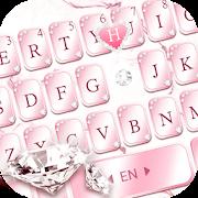 Pink Lovely Diamond Marble Keyboard Theme