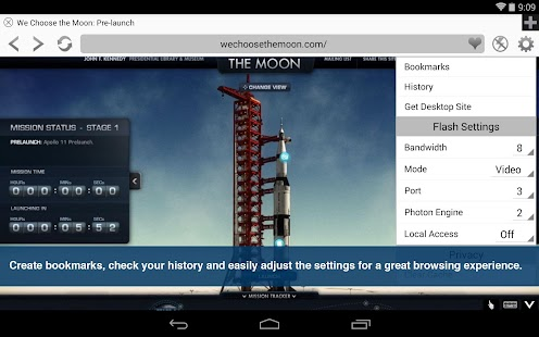 Photon Flash Player & Browser Screenshot