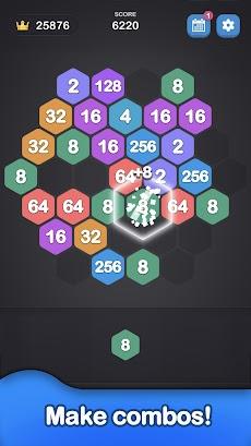 ヘキサゴン 2048 - 2048 Number Gamesのおすすめ画像3