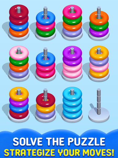 Stack Sort Puzzle - Color Sort - Hoop Sort Stack Apkfinish screenshots 8