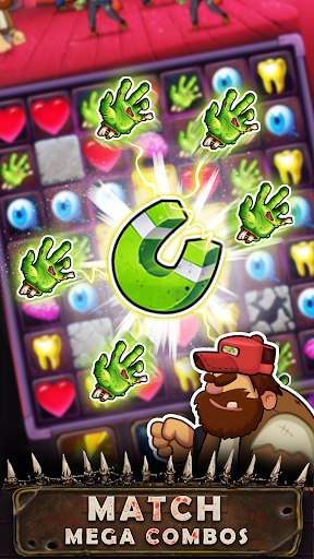 Zombie Blast - Match 3 Puzzle RPG Game 2.5.1 screenshots 2