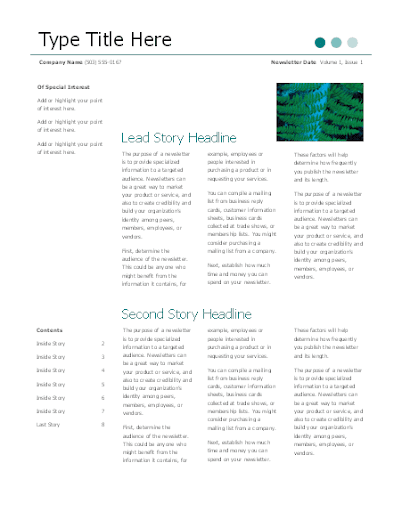 Free Email Newsletter Templates  screenshots 5