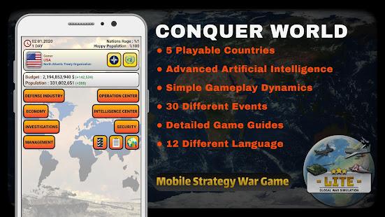 Global War Simulation LITE - Strategy War Game v25 LITE screenshots 1