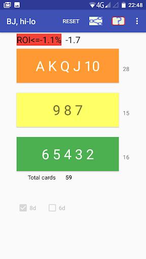 Cards counter,  BlackJack screenshots 3