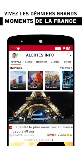 Alertes info: Actualitu00e9 locale et alerte d'urgence 10.7.0 Screenshots 2