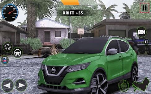 Araba Simülatörü 2021 : Qashqai Drift ve sürücü Apk İndir 4
