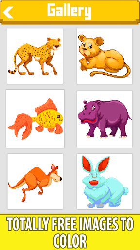 Animals Color by Number-Cats, Dogs, Horse, Unicorn modiapk screenshots 1