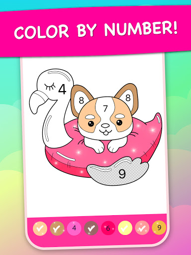 Magic Color - kids coloring book by numbers apkpoly screenshots 7