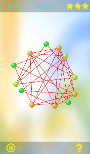 Untangle lines - logic game for brain skill